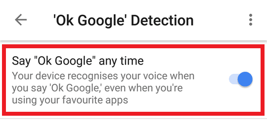 Turn Off OK Google