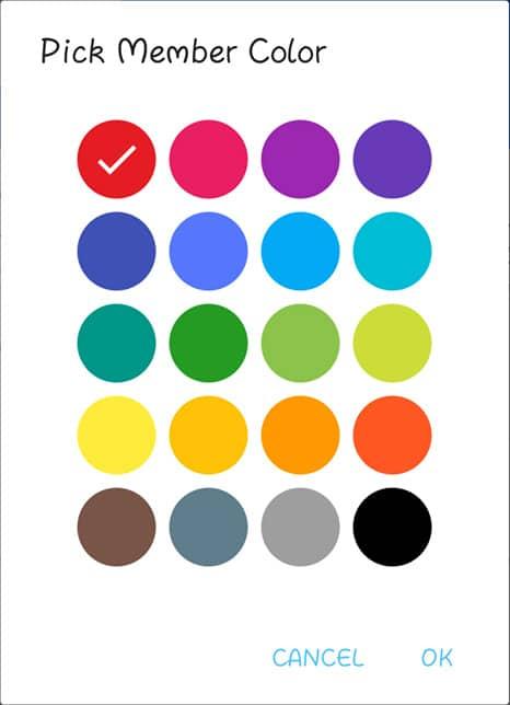 Pick Member Color