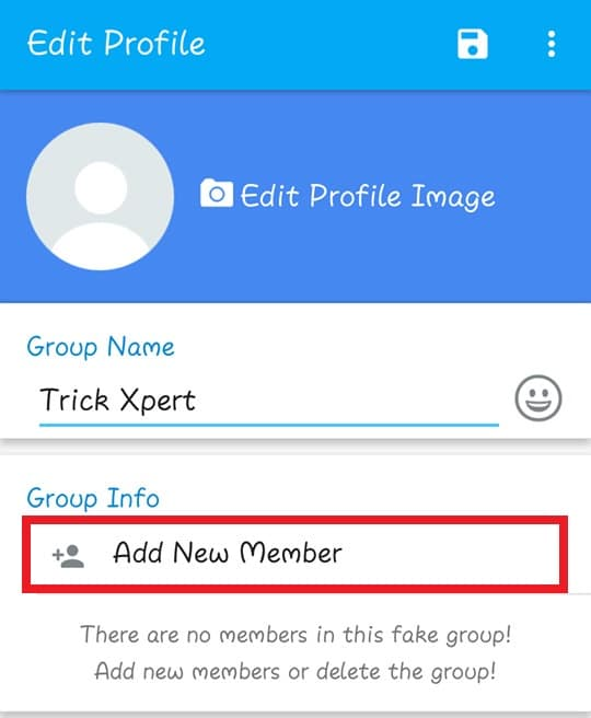 WhatsApp Fake Group