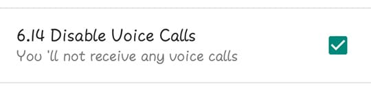 Disable Voice Calls