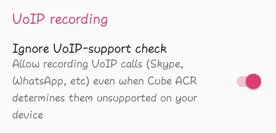 Enable VoIP Recording
