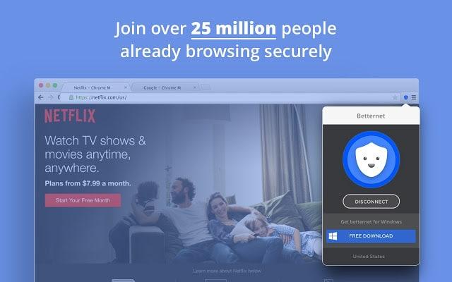 Betternet Unlimited Free VPN Proxy