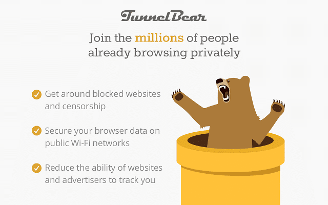 TunnelBear VPN For Chrome