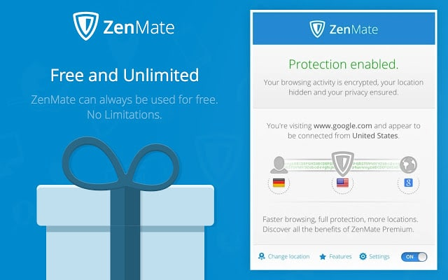 ZenMate VPN For Chrome