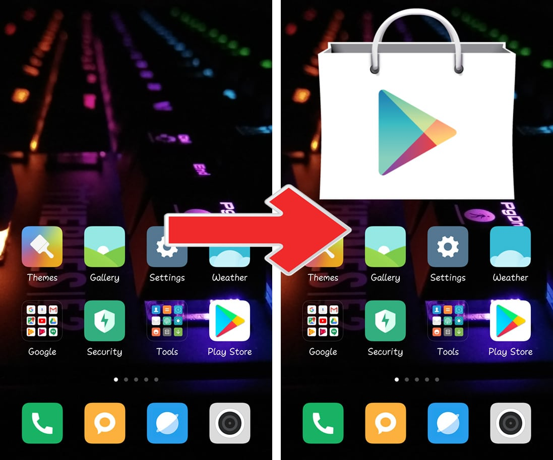 Change Icon Size Android