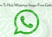 Hide WhatsApp Images From Gallery