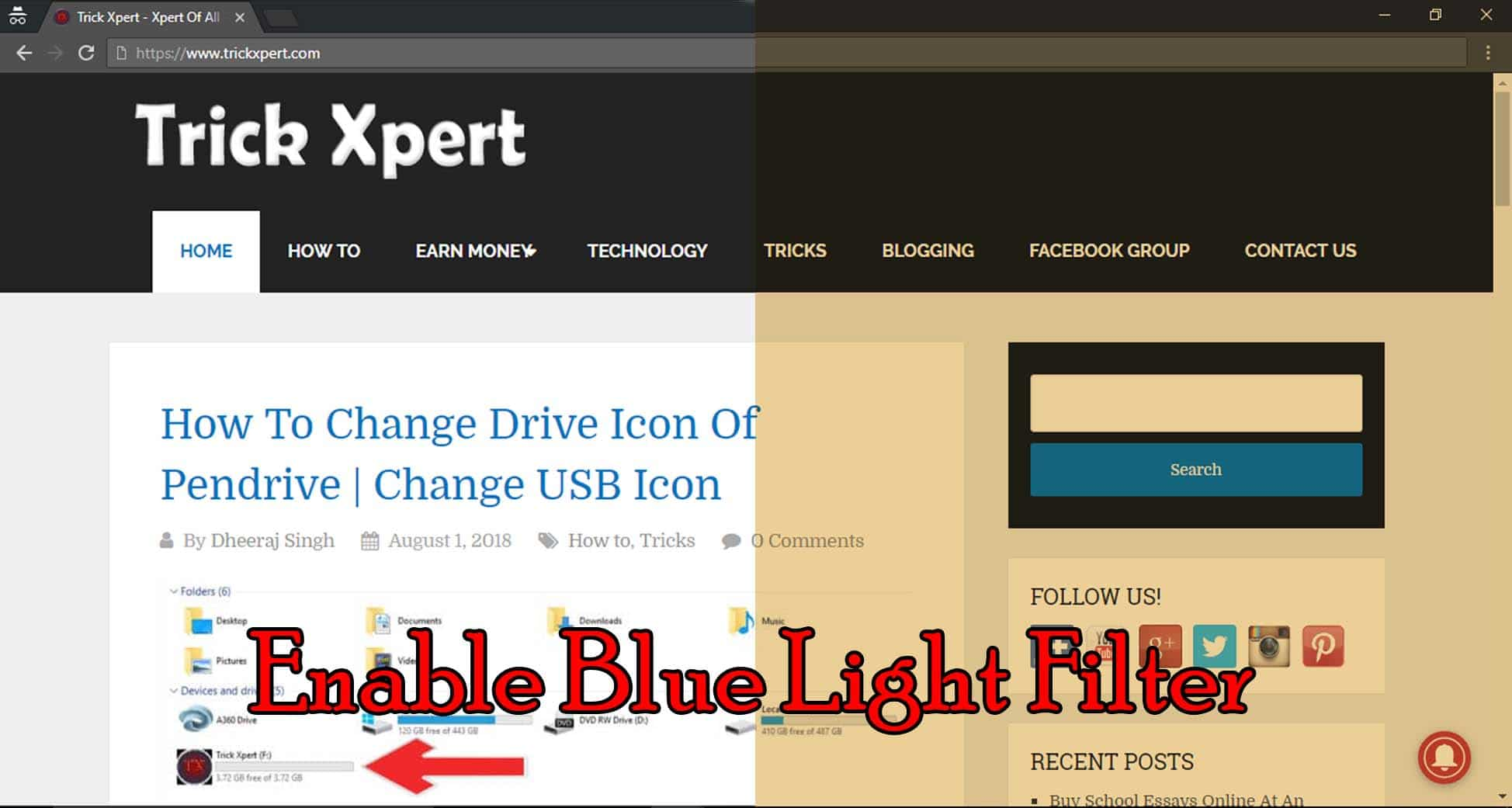 Blue Light Filter Windows 10
