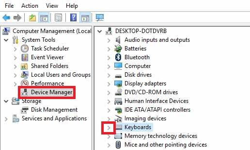 Drop Down Device Manager