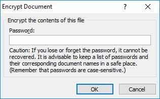 Encrypt Excel with Password