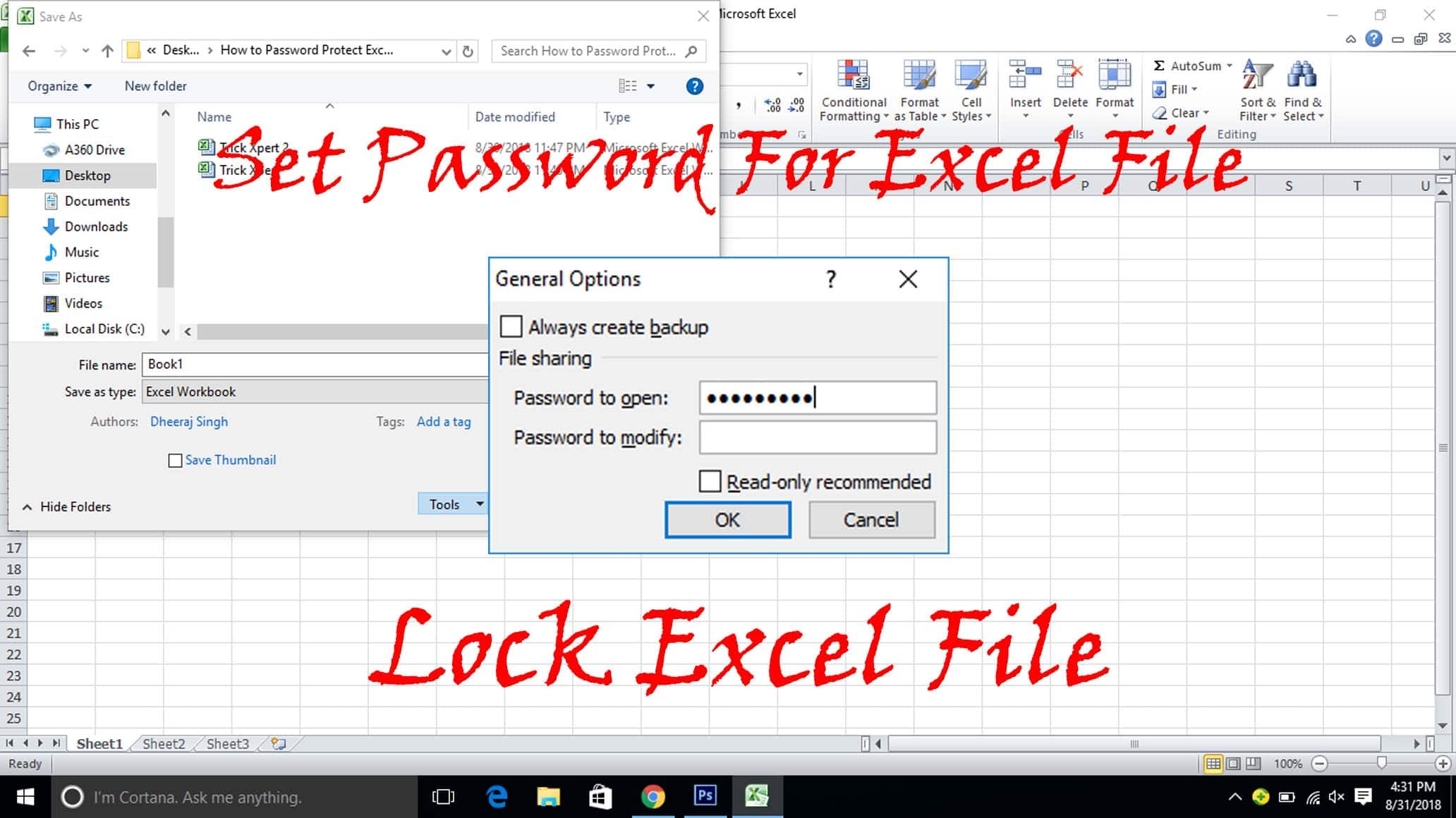 How To Password Protect Excel File (3 Methods) - Trick Xpert