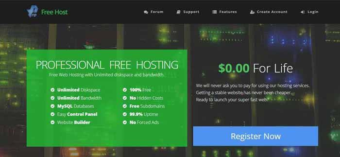 ProFreeHost Hosting