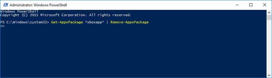 Remove Xbox From Windows 10 Using Powershell