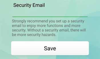 Security Email