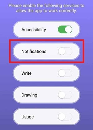 Material Status Bar Notification Access