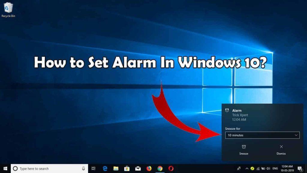 Set Alarm In Windows 10
