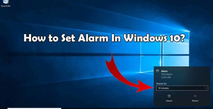 Set Alarm In Windows 10