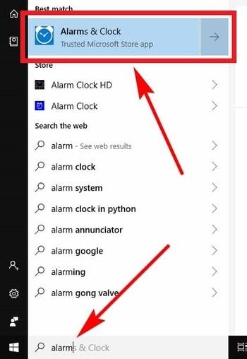 Windows 10 Alarm Clock