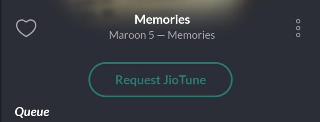 Request JioTune Option